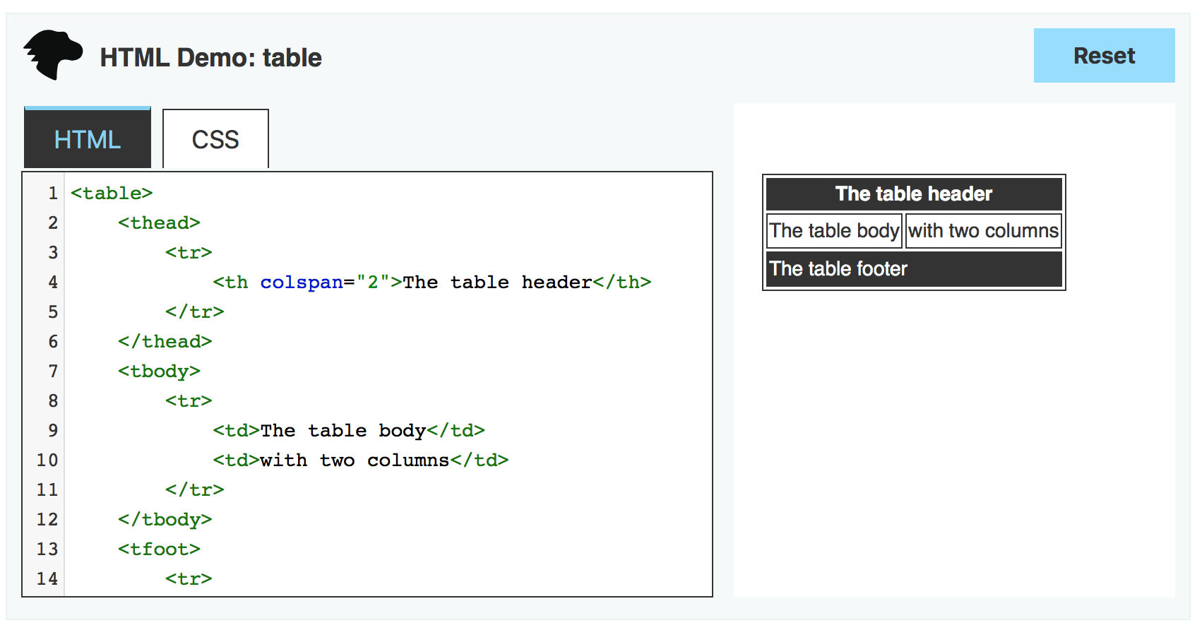 html-table